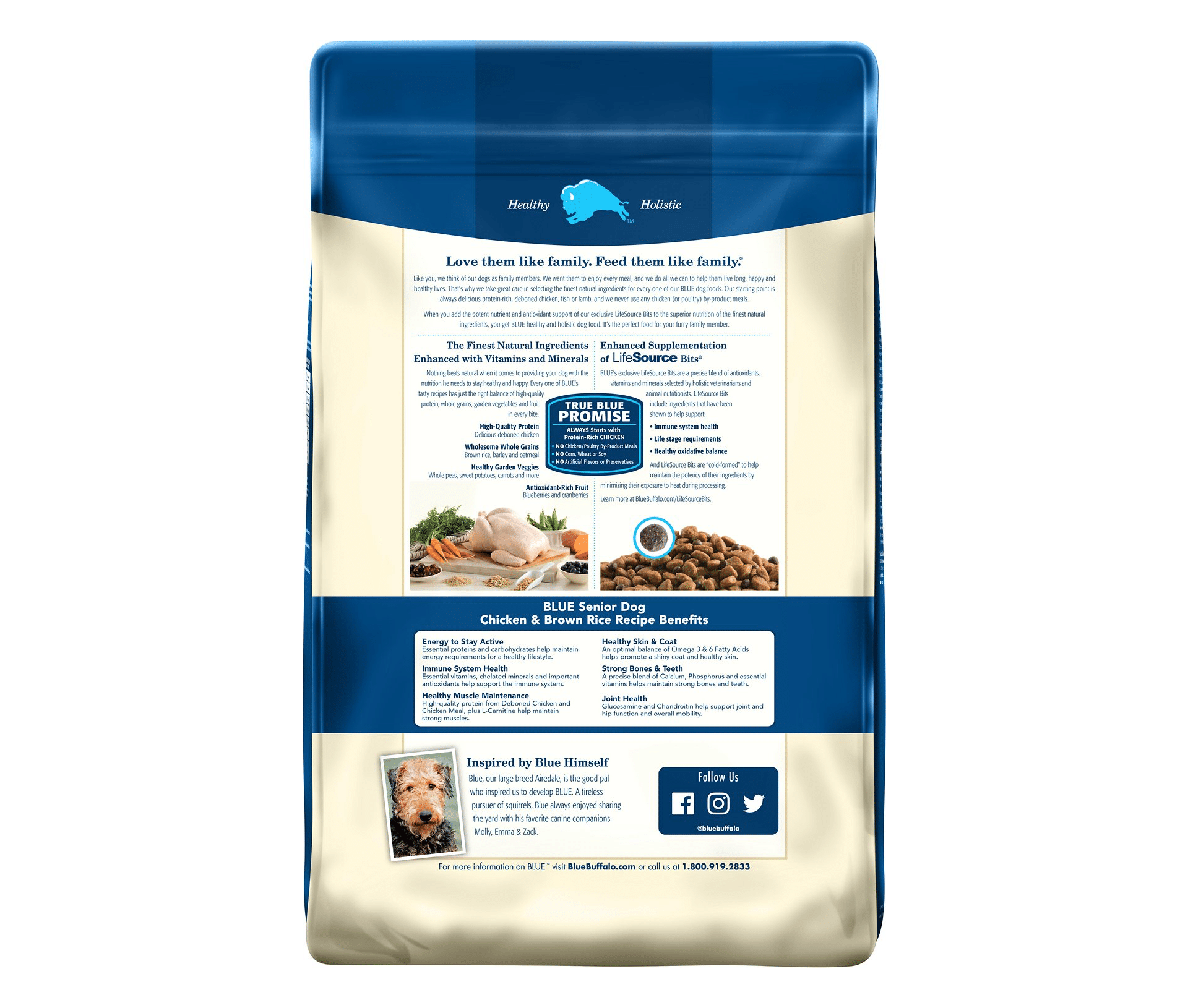 Blue Buffalo Life Protection Formula Senior Chicken & Brown Rice Recipe