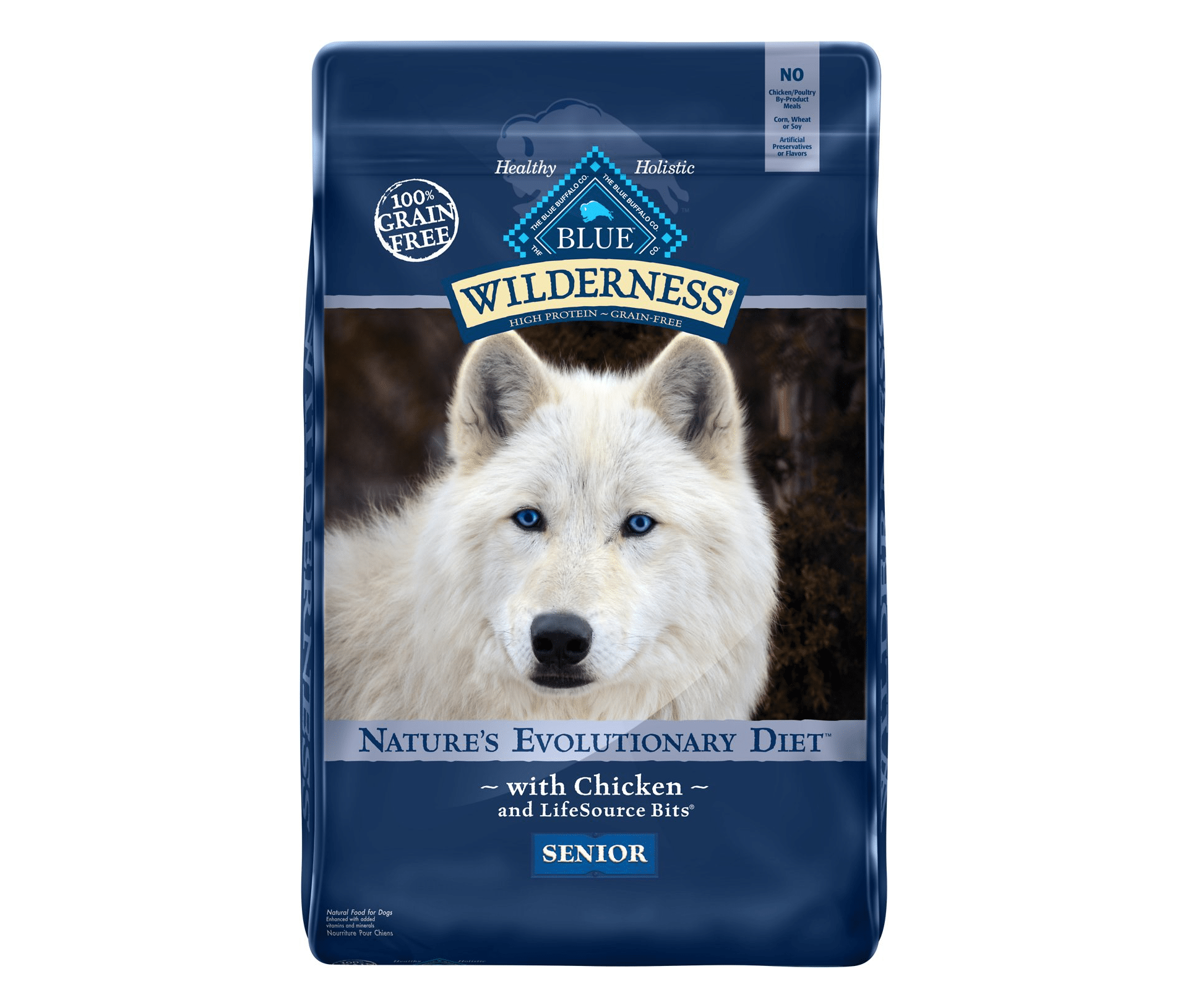 Blue Buffalo Wilderness Senior Chicken Recipe Grain-Free Dry Dog Food