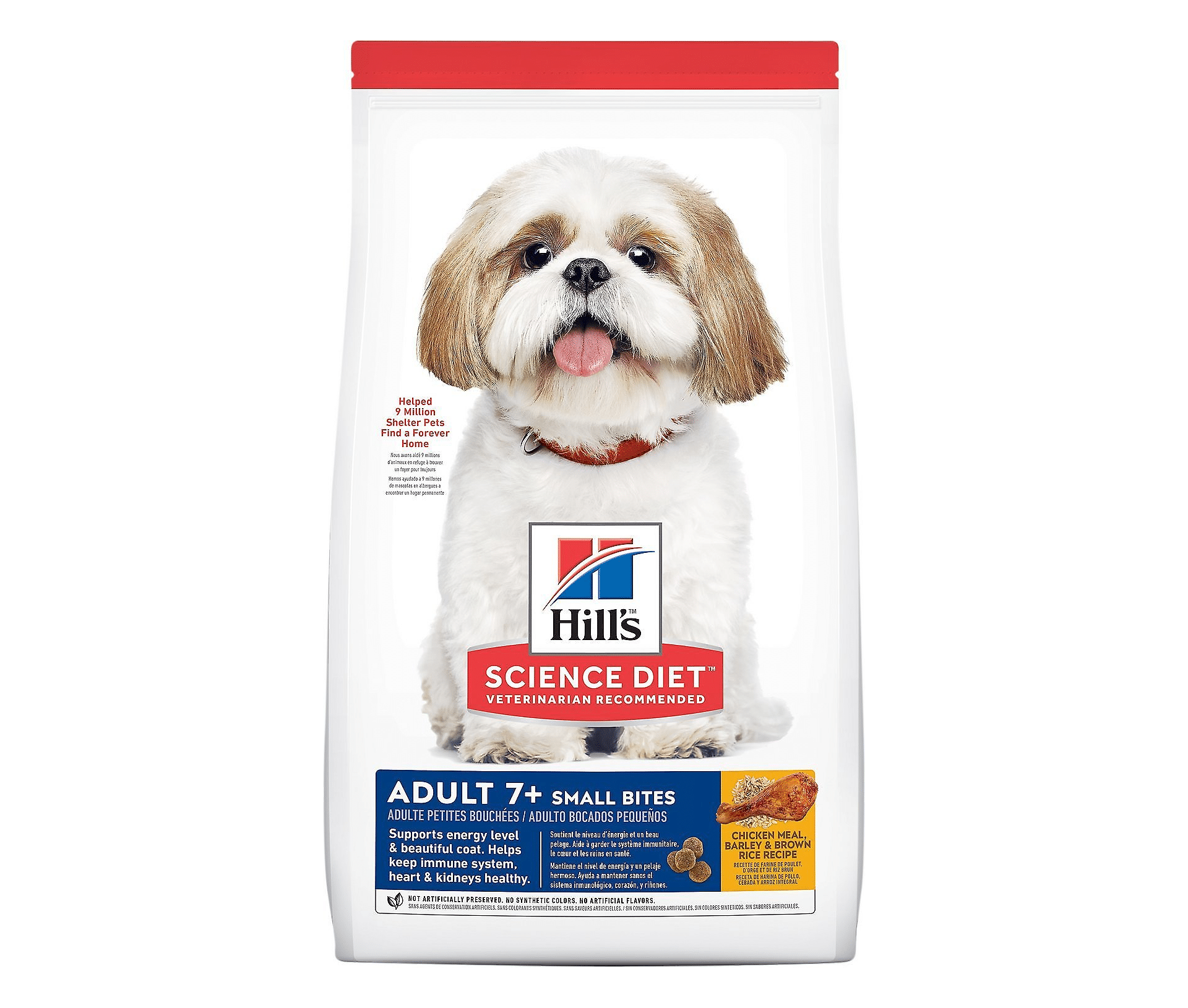 Hill's Science Diet Adult 7+ Small Bites Chicken Meal, Barley & Brown Rice Recipe Dry Dog Food