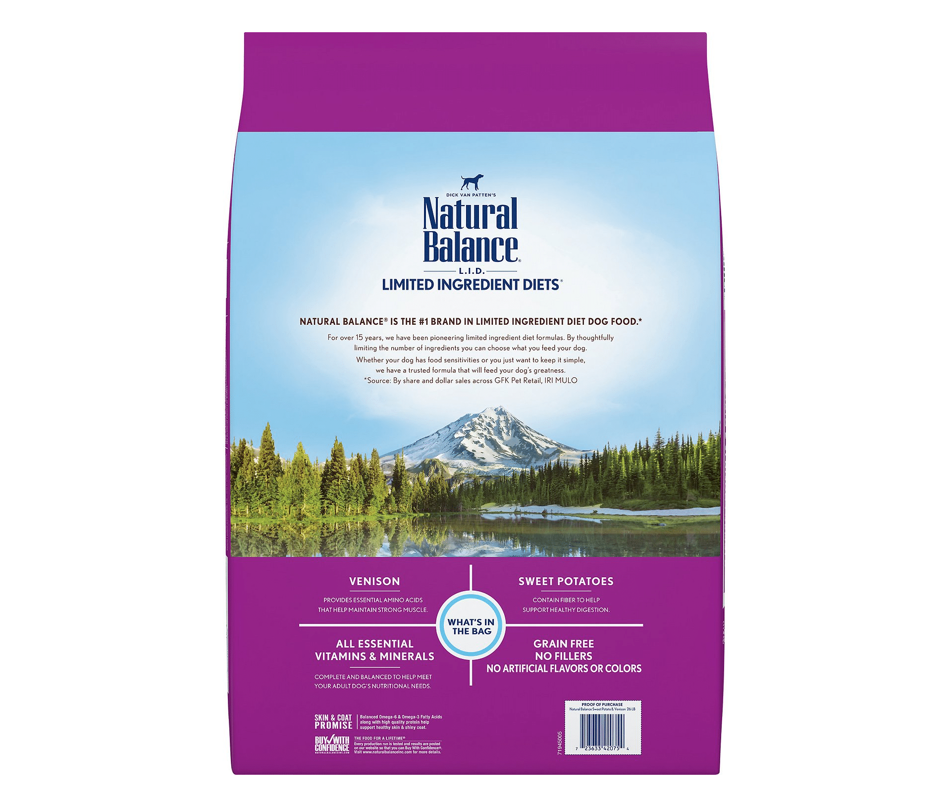 Natural Balance L.I.D. Limited Ingredient Diets Sweet Potato & Venison Dry Dog Food