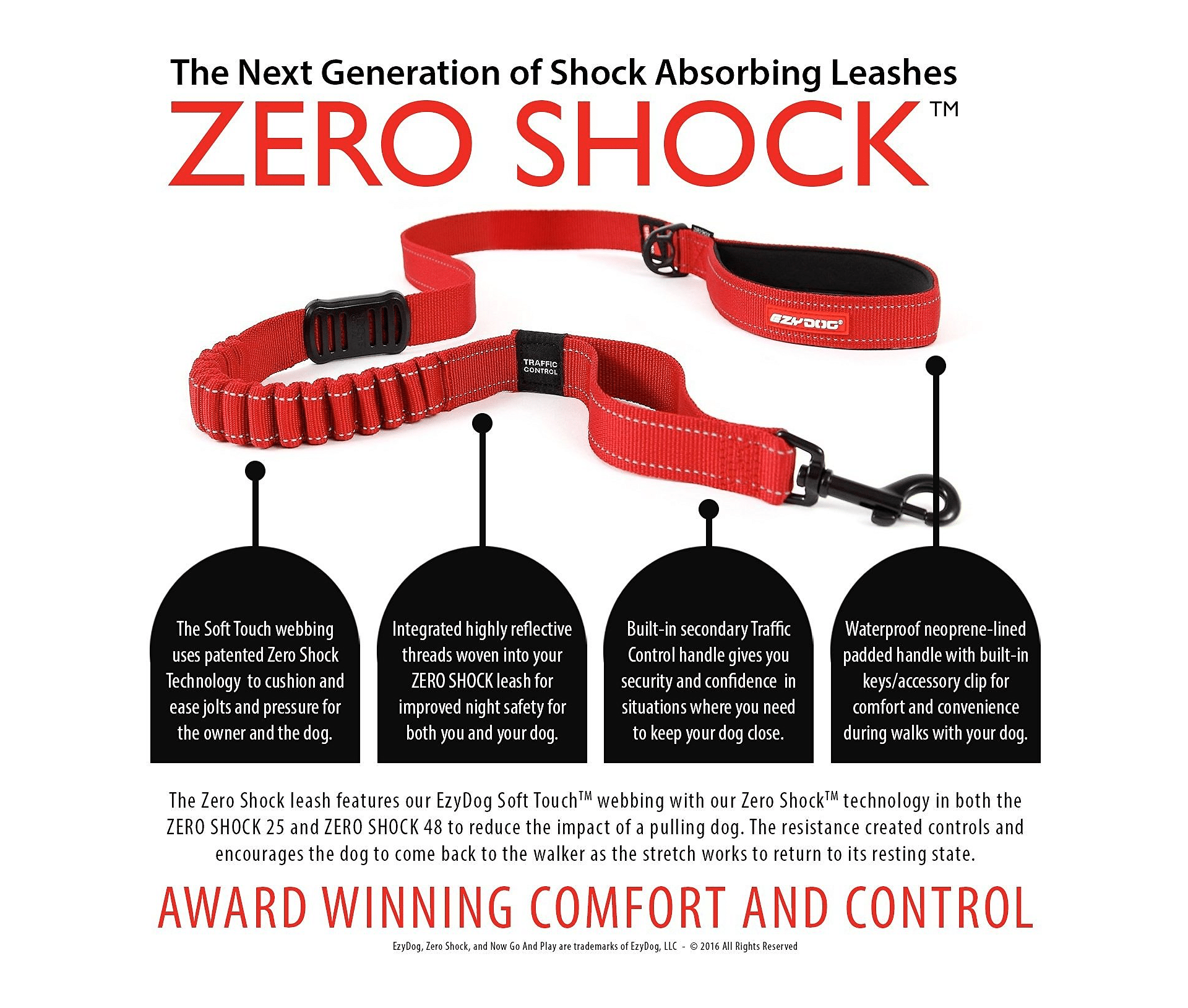 The EzyDog Zero Shock Absorbing Dog Leash