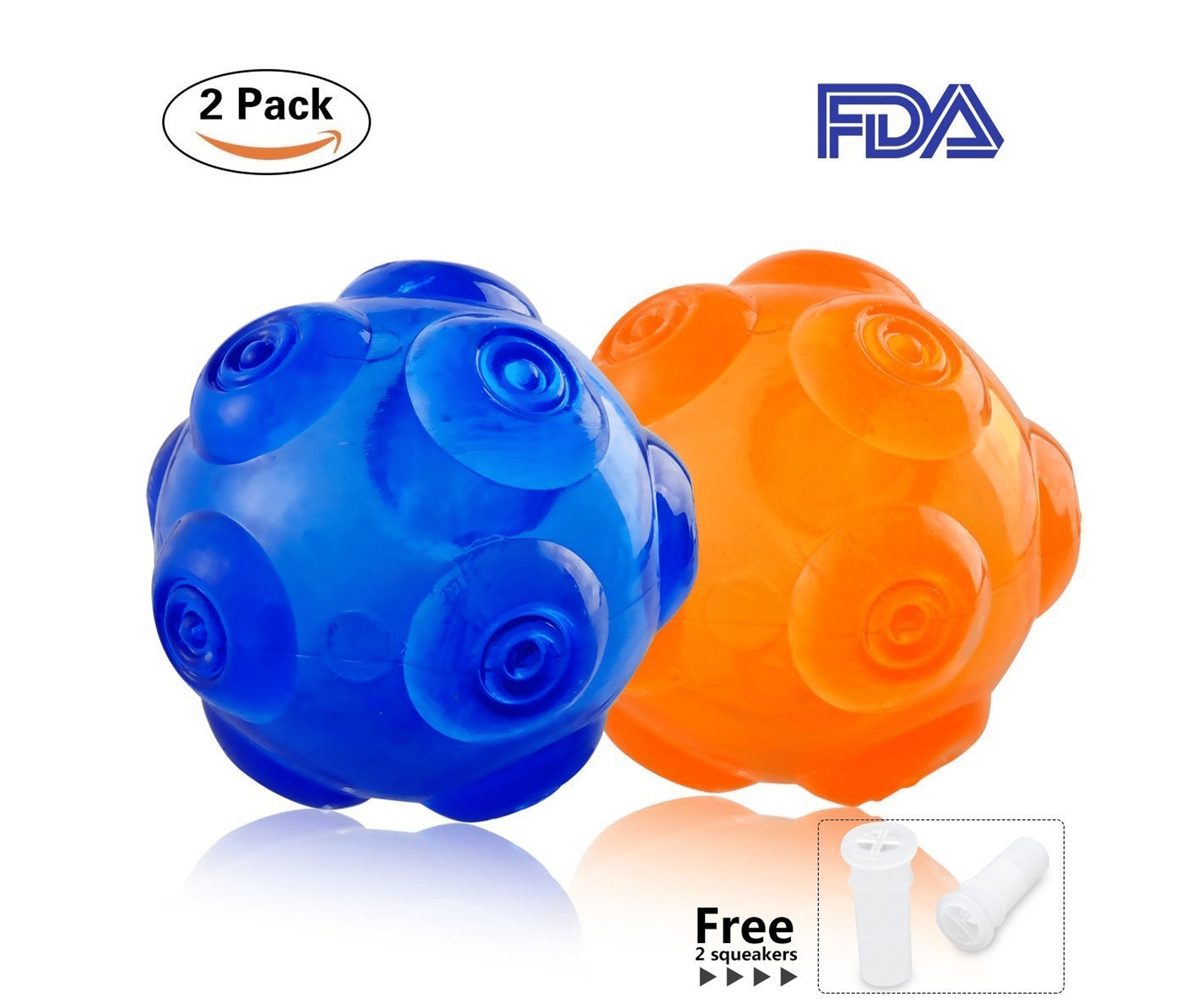 PERSUPER 3.6 Inch Durable Pet Dog Balls