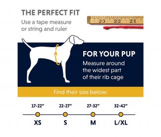 RUFFWEAR approach pack size chart