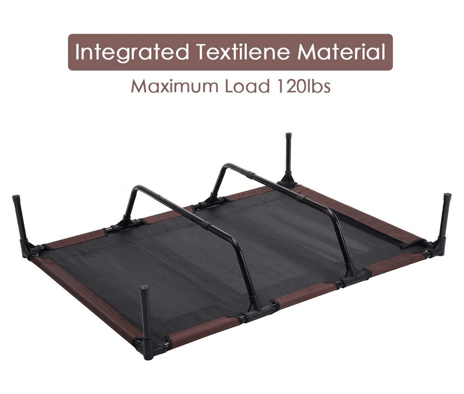SUPERJARE Outdoor Dog Bed, Elevated Pet Cot with Canopy