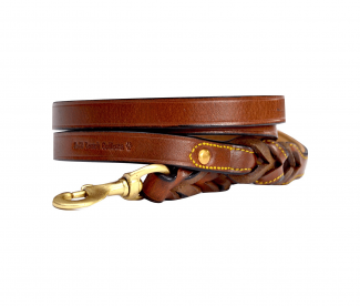 Soft Touch Collars Leather Braided Dog Leash