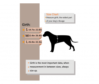 Wellver Dog Backpack Size Chart